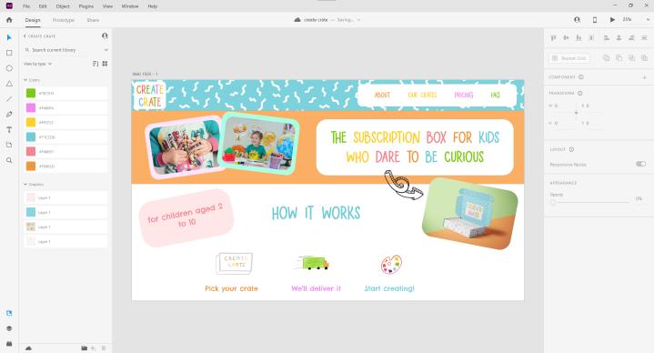 AD6805 – Create Crate WebsiteMock-Up
